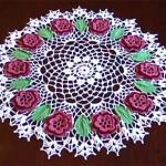 yuvarlak çiçek motifli danteller