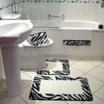 zebra desenli klozet takımı modeli