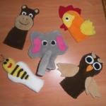 çeşitli örgü hayvan figürlü kukla modelleri