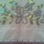 çiçek desenli pullu havlu kenarı modeli