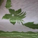 çiçek desenli yeşil aplike pike takımı