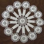 çiçek desenli yuvarlak vitrin takımı modeli