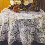çiçek mitifli fiskoz masa örtüsü örneği
