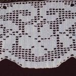 çiçek motifli dantel kenarı modeli
