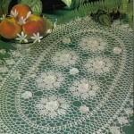 çiçek motifli dantel konsol örtüsü modeli