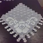 çiçek motifli dnatel mutfak peçetesi modeli
