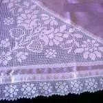 çiçek motifli mor dantel bohça modeli