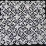 çiçekli kare gümüşlük dantel örneği