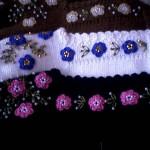 çiçekli nakış işlemeli patik modelleri