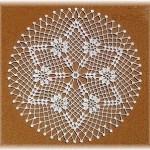 çiçekli yıldız gümüşlük dantel örneği