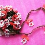 çiçekli yemeni oyası modeli