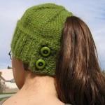 çok farklı yeşil düğmeli bayan bere