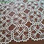 çubuk motifli dantel kare örtü modeli