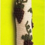 üzüm desenli örgü poşetlik modeli
