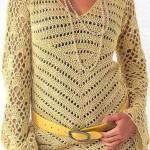 açık sarı kemerli fileli kazak modeli
