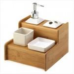 ahşap dörtlü banyo seti modeli