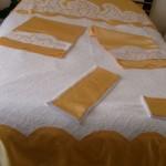 aplike pike takımı ve yatak örtüsü modeli
