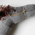 at figürlü çorap kukla modeli