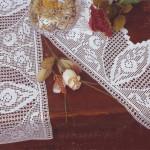 badem çiçek motifli kenar dantel örneği