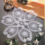 badem motifli dantel örtü örneği