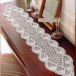 bademli dantel konsol örtüsü modeli