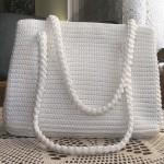 bembeyaz tığ işi örgü yazlık çanta modeli
