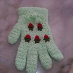 beyaz çiçek desenli eldiven lif modeli