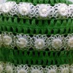 beyaz çiçek motifli firkete şal modeli