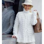 beyaz boğazlı bayan kazak modeli