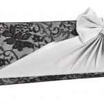 beyaz kurdeleli abiye çanta modeli