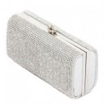beyaz renkli taşlı abiye çanta modeli