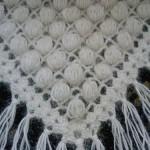 beyaz simli fıstıklı şal modeli