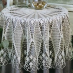 beyaz uzun fiskos masa örtüsü modeli