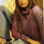 boğazlı kahverengi filelei kazak modeli