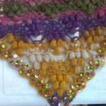 boncuklu rengarenk fıstıklı şal modeli