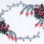 bordo çiçekli brezilya nakışı örneği