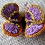 brezilya nakışlı mor kelebek örneği