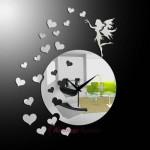 dekoratif kalpli ayna ve saat modeli