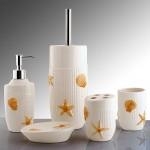 deniz yıldızlı seramik banyo seti modeli