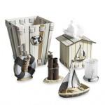 denizci motifli banyo seti modeli