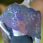 dikdörtgen şeklinde örgü şal modeli