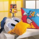 donald duck figürlü peluş yastık modeli