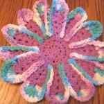 ebruli çiçek motifli sabun bezi modeli