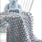 ebruli nohut örgü bebek battaniyesi örneği