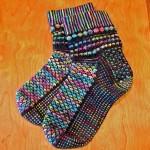 el örgüsü renkli soket çorap modeli
