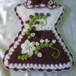 elbise desenli işlemeli sabun bezi modeli