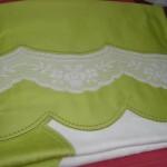 fıstık yeşili dantelli pike takımı modeli
