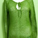 fıstık yeşili fileli kazak modeli