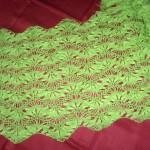fıstık yeşili firkete şal modeli