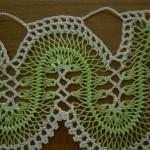 fıstık yeşili firkete oyalı havlu kenarı örneği